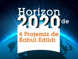All 4 Projects Going through Horizon 2020